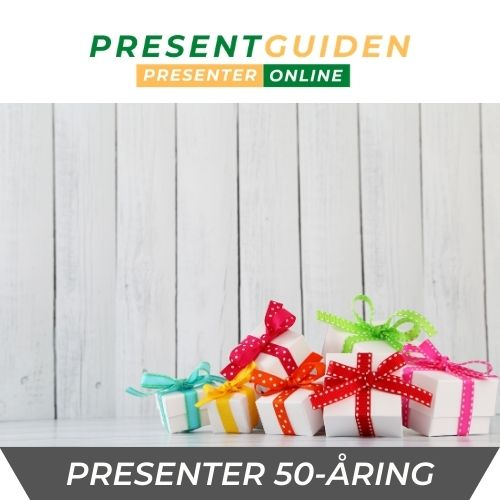 50 års presenter till man