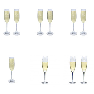 Champagneglas - Bröllopspresent till brudparet