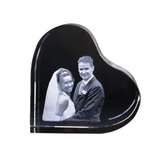 Foto i kristallhjärta - Bästa bröllopspresenten