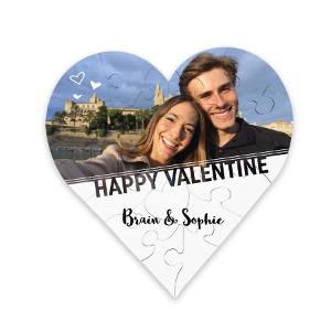 Fotopussel hjärta - Romantisk present till partner
