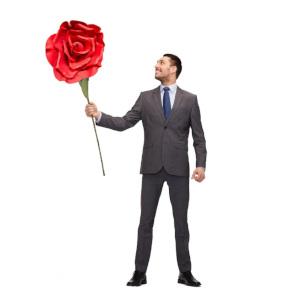 Gigantisk ros - Skämtsam romantisk present