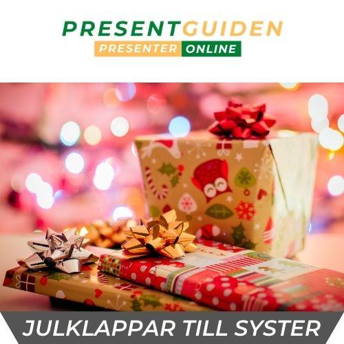 Julklapp till syster - Julklappstips bra julklappar syster