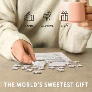Kärleksbrev pussel - Present till pojkvän & flickvän - Alla hjärtans dag present