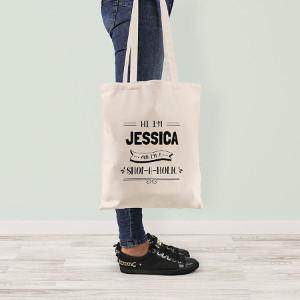 Personlig shoppingväska med namn