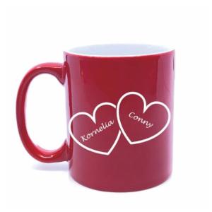 Romantiska presenter - Mugg med hjärtan