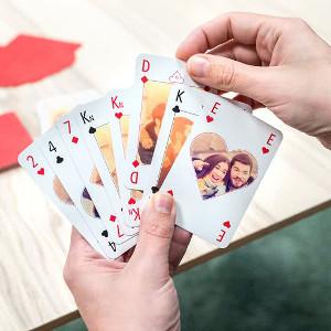 Spelkort med egna foton - Billiga fotopresenter