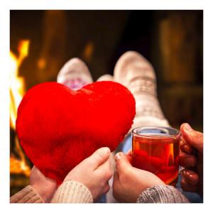 Värmehjärta - Alla hjärtans dag present - Till pojkvän och flickvän