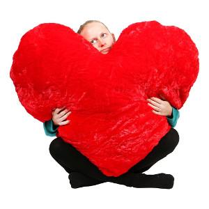 gigantiskt mjukishjärta - Kärlekspresent till pojkvän eller flickvän