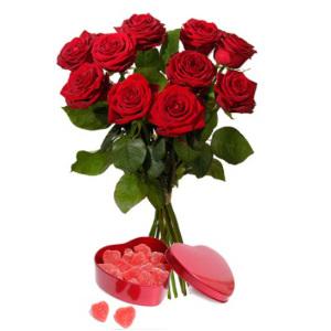 Röda rosor - skicka blommor