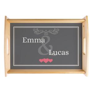 Romantiska presenter - Bricka med namn