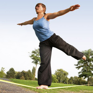 Slackline - Present som tränar balansen