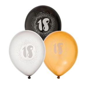 18 års ballonger - Presenttips 18 år