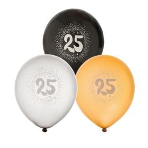 25 års ballonger - Presenttips kalas