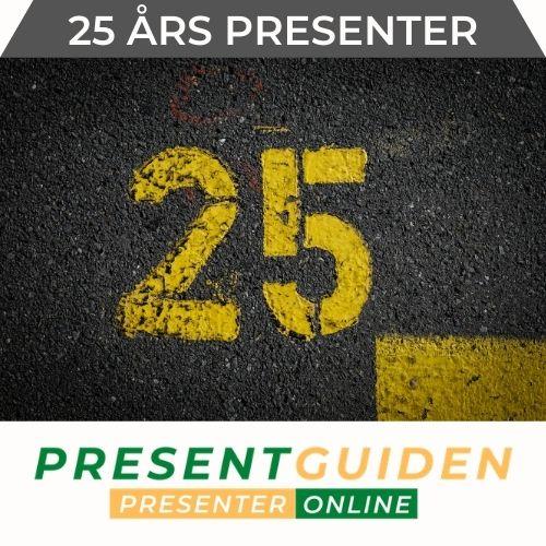 25 års present - Presenttips till 25 åring