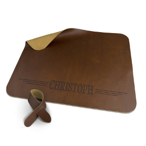 Bordstablett läder - Graverade presenter