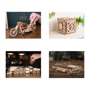 3D pussel i trä - roliga presenter