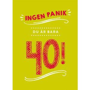 Billig 40 års present - Boken ingen panik