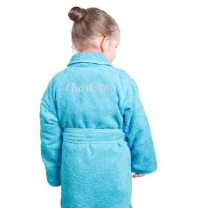 Broderad morgonrock till barn - Personliga barnpresenter