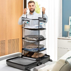 Hopvikbar hylla för resväska - Presenttips resa