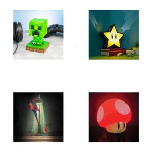Lampor inom spelens värld - Mysiga presenter till barn