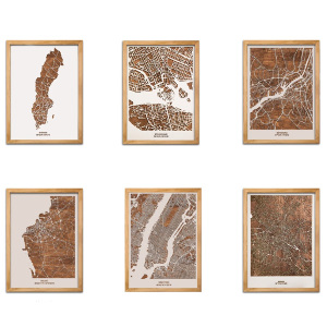 Träkarta - Exklusiva presenter i trä