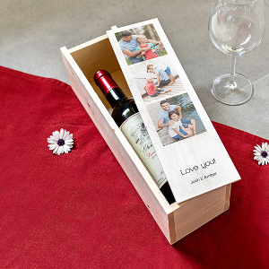 Trälåda till flaska - Presenttips vin champagne