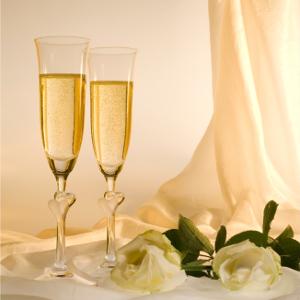 Champagne glas med gravyr - Bra bröllopspresent