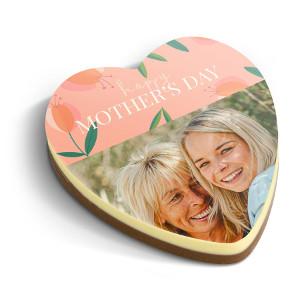 Chokladhjärta med foto - God choklad present 200 kr
