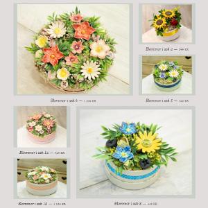Keramikblommor i ask - Blommor presenttips