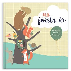 Mitt första år bok - Doppresent & present till gravid