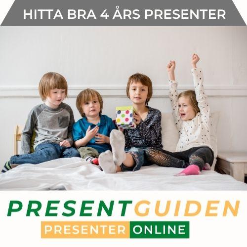 Present till 4 åring - Födelsedagspresent för kille & tjej 4 år