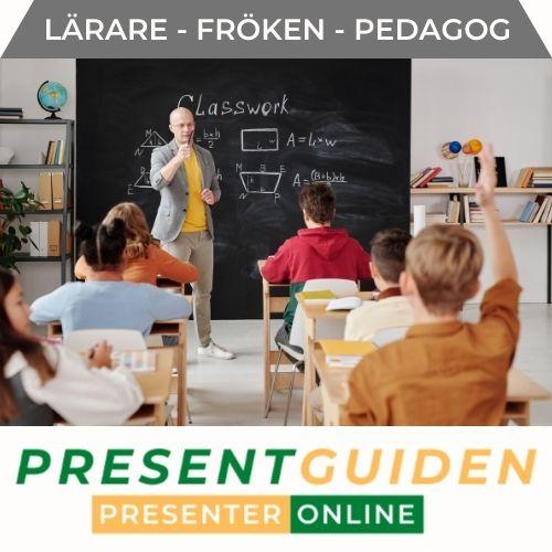 Present till lärare, fröken & pedagog