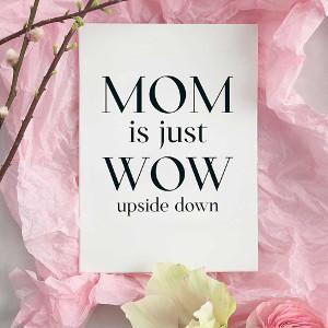 Tavla med citat - Bra present till mamma
