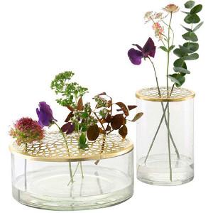 Vas med blomhållare - Presenttips blommor