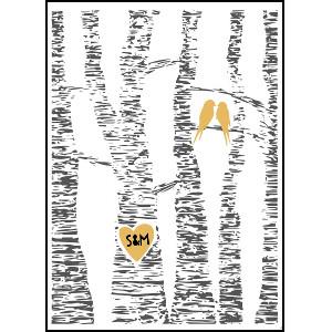 Love in a tree - Romantiska tavla med personifiering