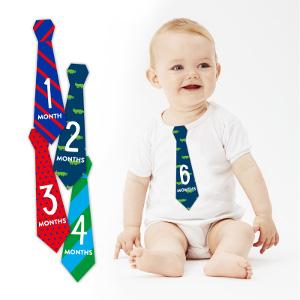 Månadsslipsar - Rolig present till bebis