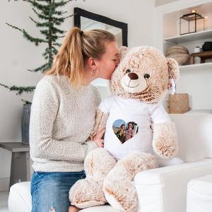 Mega björn med tryckt tshirt - Personliga presenter