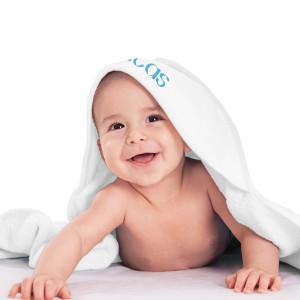Baby badhandduk med huva - Present till nyfödd bebis