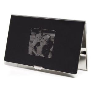 Visitkortshållare - Lyxig present med foto & text