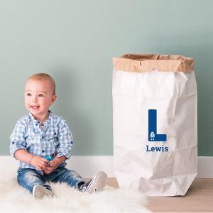 Present till småbarn - Papperväska med tryckt namn
